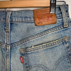 Levi's 501 jeans turned into shorts
